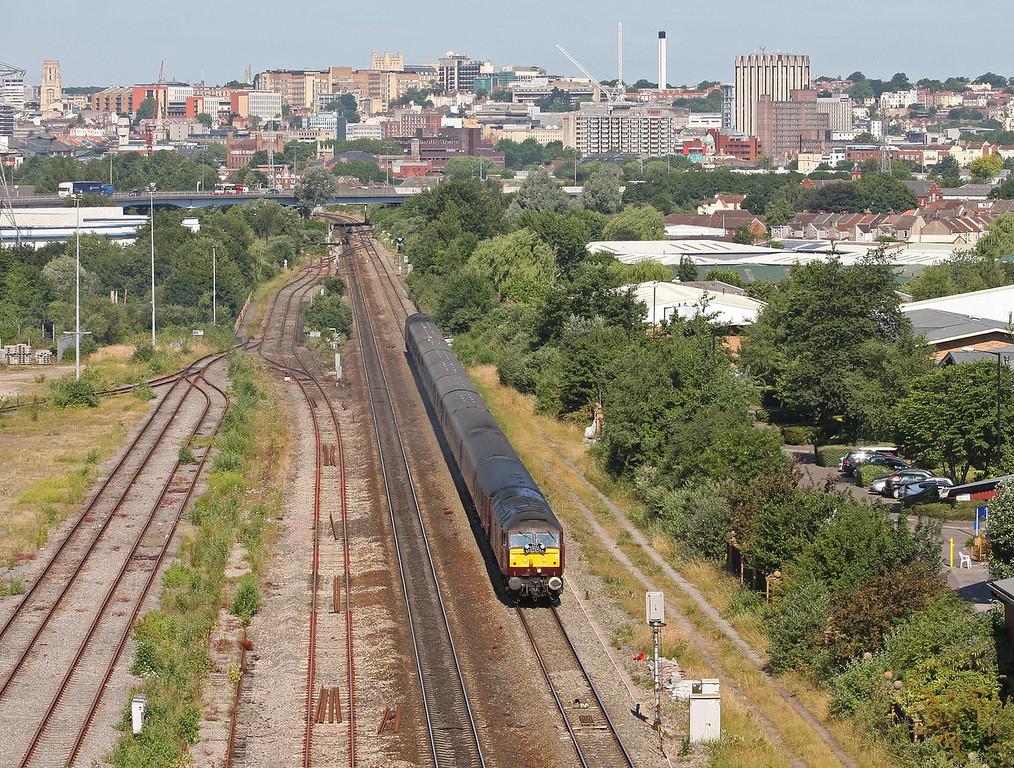 47237/57006, 05.05 Gloucester-Worcester-Birmingham New Street-Worcester-Bath Spa, St Anne's, Bristol, 9-7-13. Royal Scotsman Grand Tour of Great Britain, Day 1V.