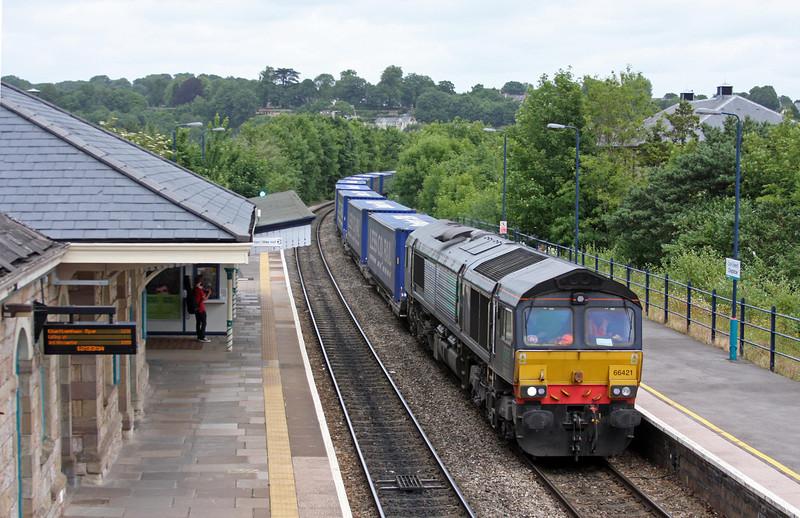 66421, 08.25 Daventry International Rail Freight Terminal-Cardiff Wentloog, Chepstow, 1-7-13.