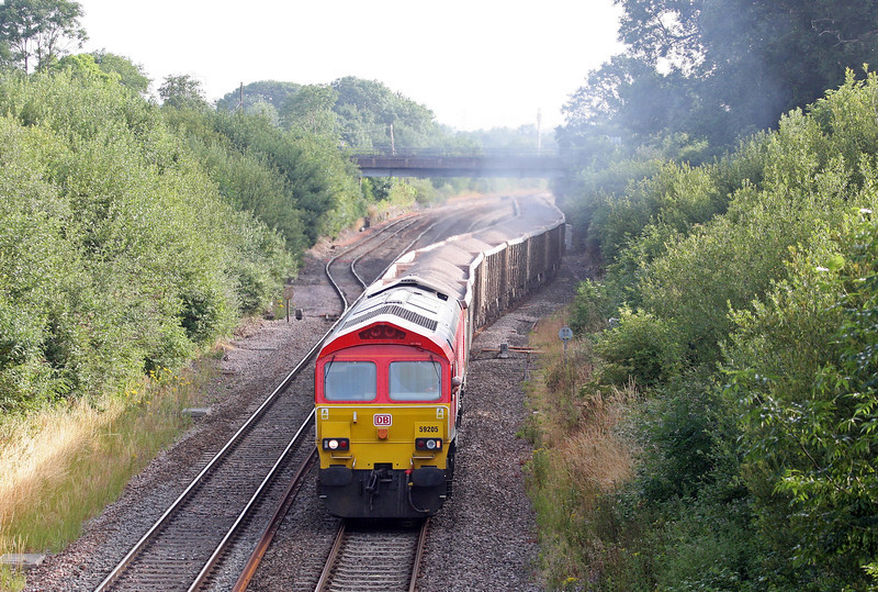 59205, 04.20 Whatley Quarry-Exeter Riverside Yard, Willand, near Tiverton, 16-7-13.