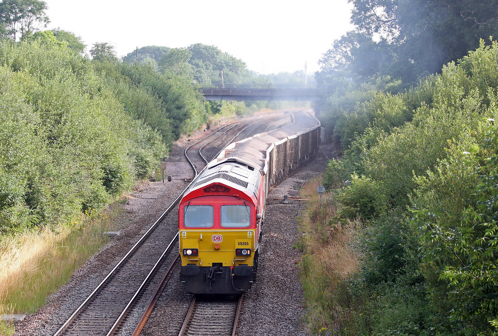 59205, 04.20 Whatley Quarry-Exeter Riverside Yard, Willand, near Tiverton, 16-7-13.