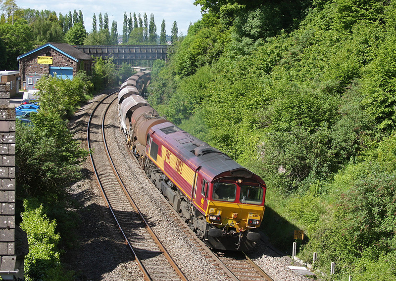 66172, 10.00 Newport Alexandra Dock Junction- Bescot, Caerleon, near Newport, 1-6-13.