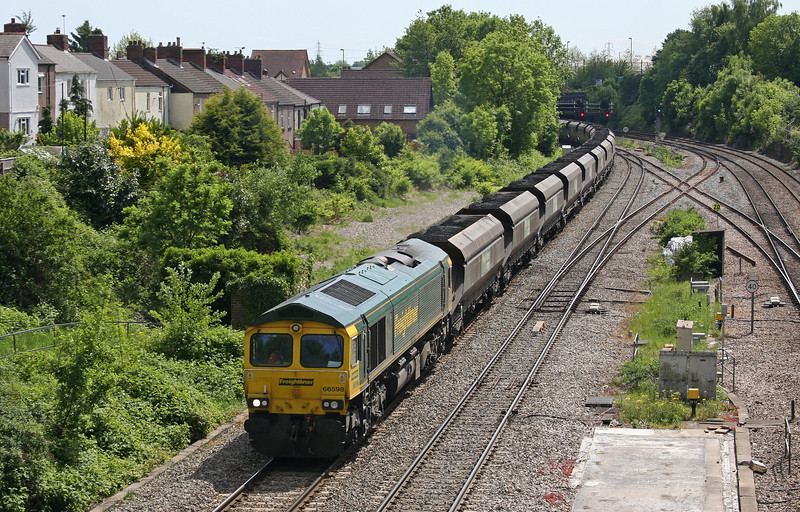 66598, 14.00 Newport Docks-Uskmouth Power Station, Gaer Junction, Newport, 1-6-13.