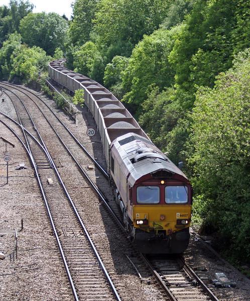 66037, 14.10 Machen-Westbury Yard, Gaer Junction, Newport, 1-6-13.