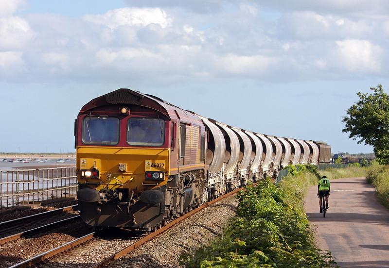 66027, 14.54 Parkandillack-Exeter Riverside Yard, Powderham, 13-6-13. Departed 12.00; St Blazey 70 early.