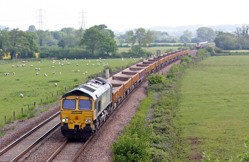 66539, 08.23 Westbury Yard-Exeter Riverside Yard, Tiverton Parkway, 6-6-13.