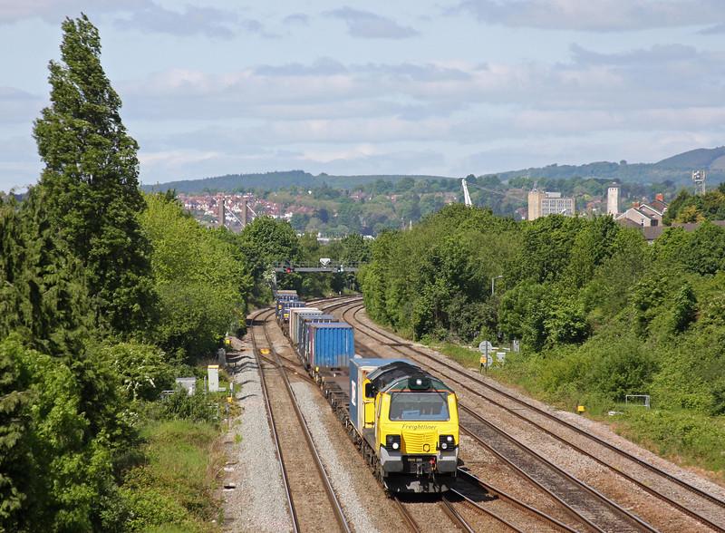 70019, 10.44 Cardiff Wentloog-Southampton Millbrook, Llanwern West Junction, 1-6-13.