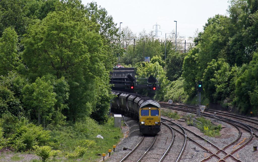 66598, 14.00 Newport Docks-Uskmouth Power Station, Gaer Junction, Newport, 1-6-13.
