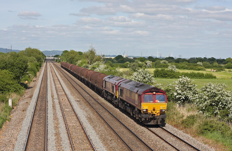 66221/66250, 15.00 Newport Bird Port-Margam, Coedkernow, near Newport, 1-6-13.