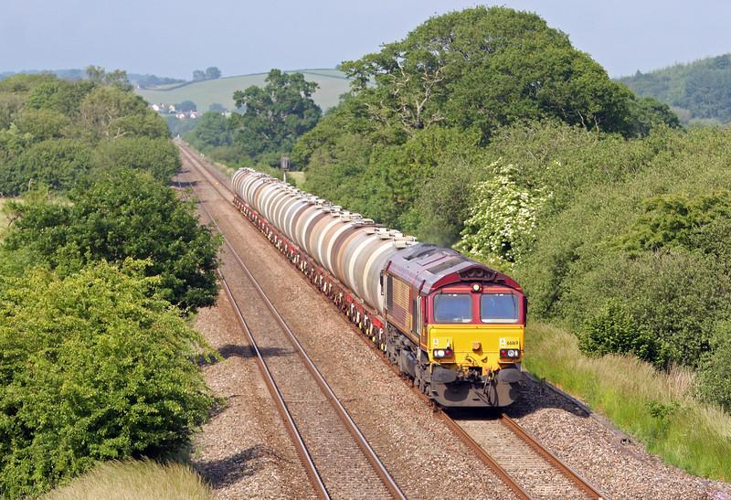 66169, 15.31 Bristol St Philip's Marsh-Plymouth Tavistock Junction Yard, Rewe, near Exeter, 18-6-13.