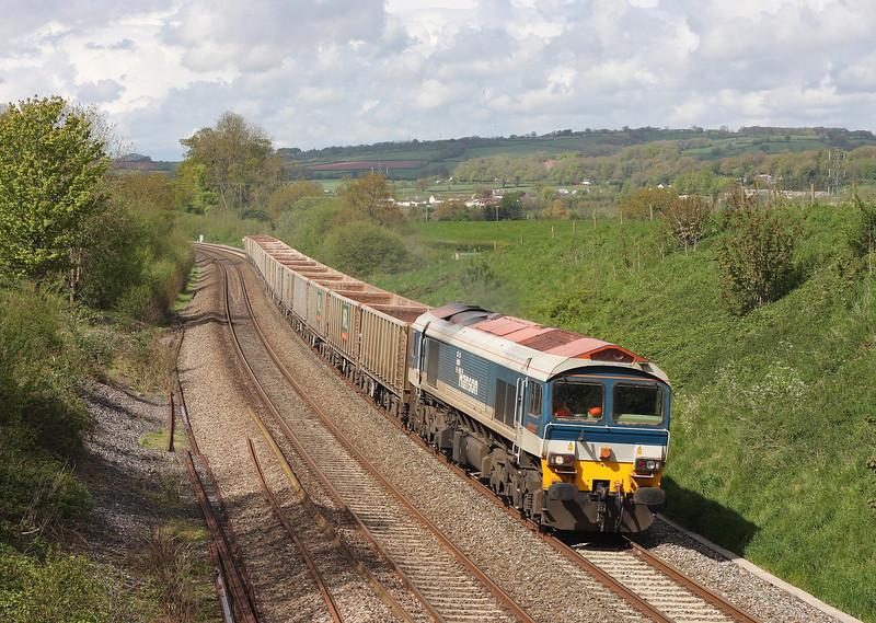 59101, 09.50 Exeter Riverside Yard-Westbury Yard, Whiteball, 16-5-13.