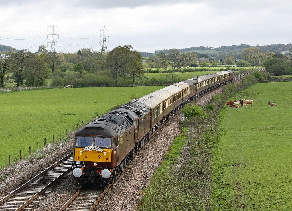 47786/47854, 05.05 Crewe-Penzance, Cornish Riviera Express, Tiverton Parkway, 11-5-13.