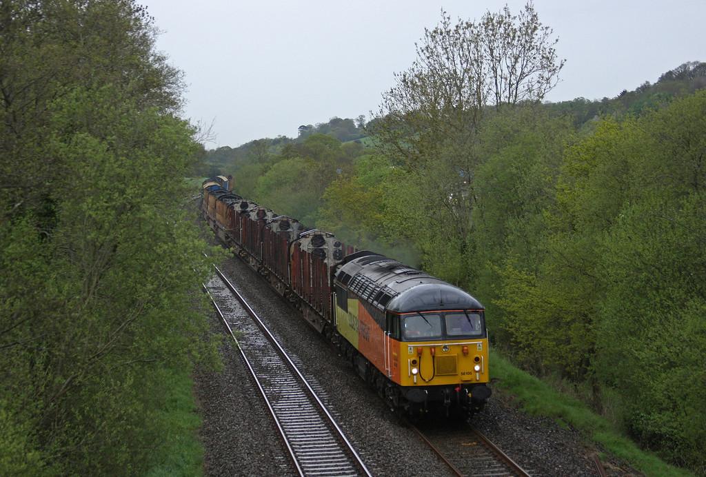 56105, 07.13 Chirk Kronospan-Teigngrace,  Westcott, near Cullompton, 8-5-13.