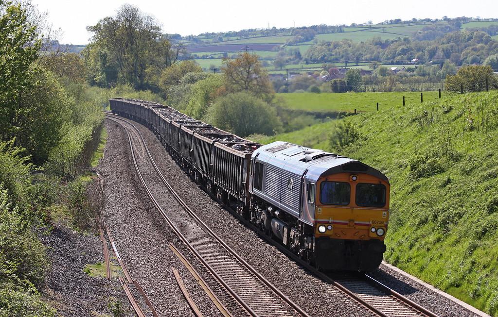 66726, 15.24 Exeter Alphington Road-Cardiff Tremorfa Works Sidings, Whiteball, 18-5-13.