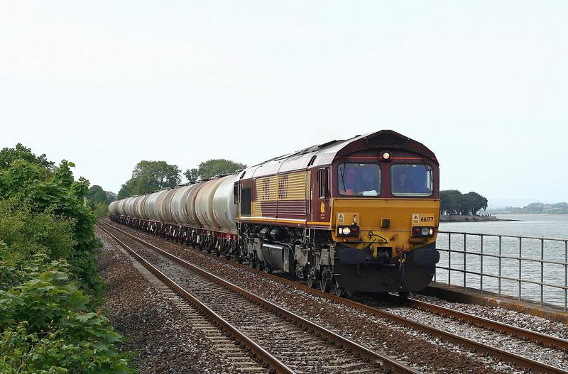 66177, 15.31 Bristol St Philip's Marsh-Plymouth Tavistock Junction Yard, Powderham, near Starcross, 21-5-13.