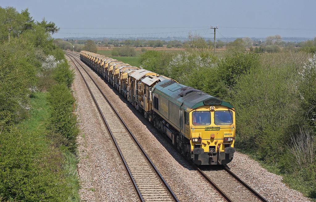 66604, 12.11 Westbury Yard-Taunton Fairwater Yard, via Bath and Bristol, Banklands, Durston, 1-5-13.