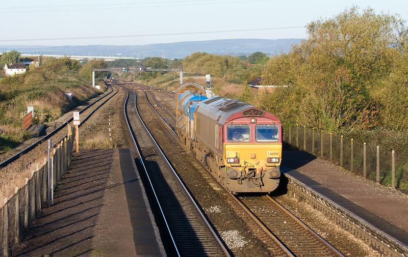 66098/66126,16.32 Bristol Barton Hill-Bristol Barton Hill, departs Pilning Up Loop, 4-11-13.