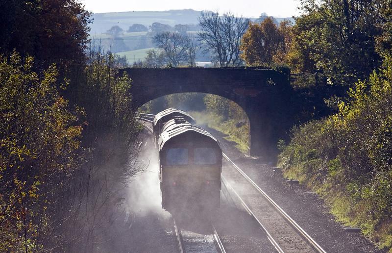 66141/66193, 08.45 Westbury-St Blazey, Willand, near Tiverton, 23-11-13.