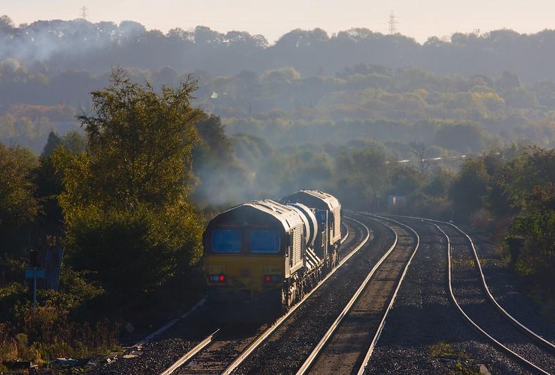 66098/66126,16.32 Bristol Barton Hill-Bristol Barton Hill, Pilning, 4-11-13.