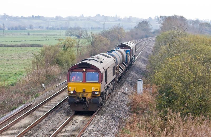 66141/66193, 08.45 Westbury-St Blazey, Wick,near Langport, 26-11-13.