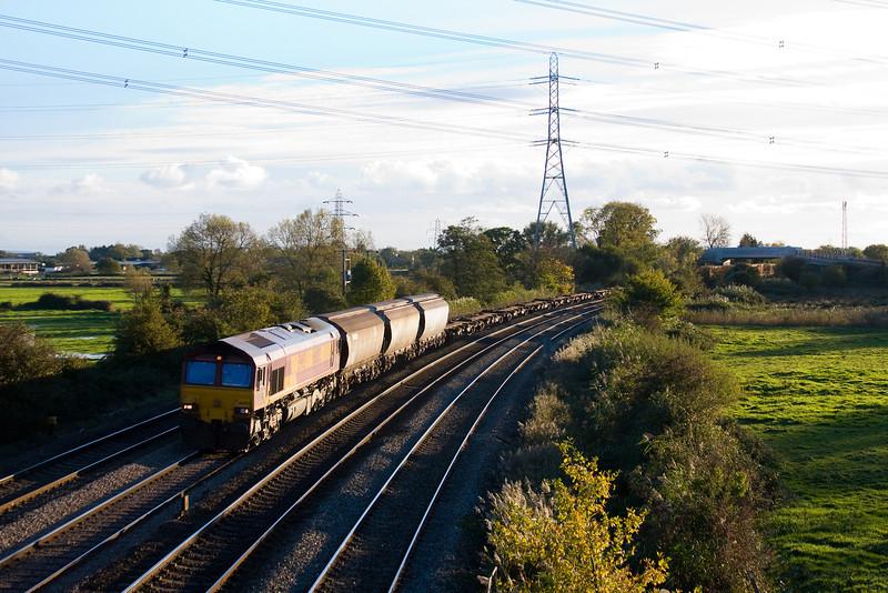 66002, 14.32 Barry Docks-Newport Alexandra Dock Junction, Duffryn, Newport, 4-11-13.