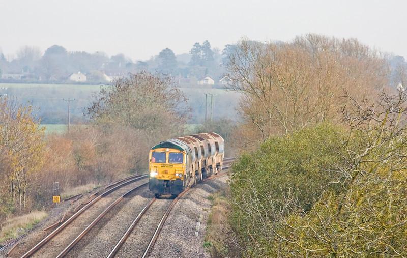 66951, 13.10 Westbury-Taunton Fairwater Yard, Wick, near Langport, 26-11-13.