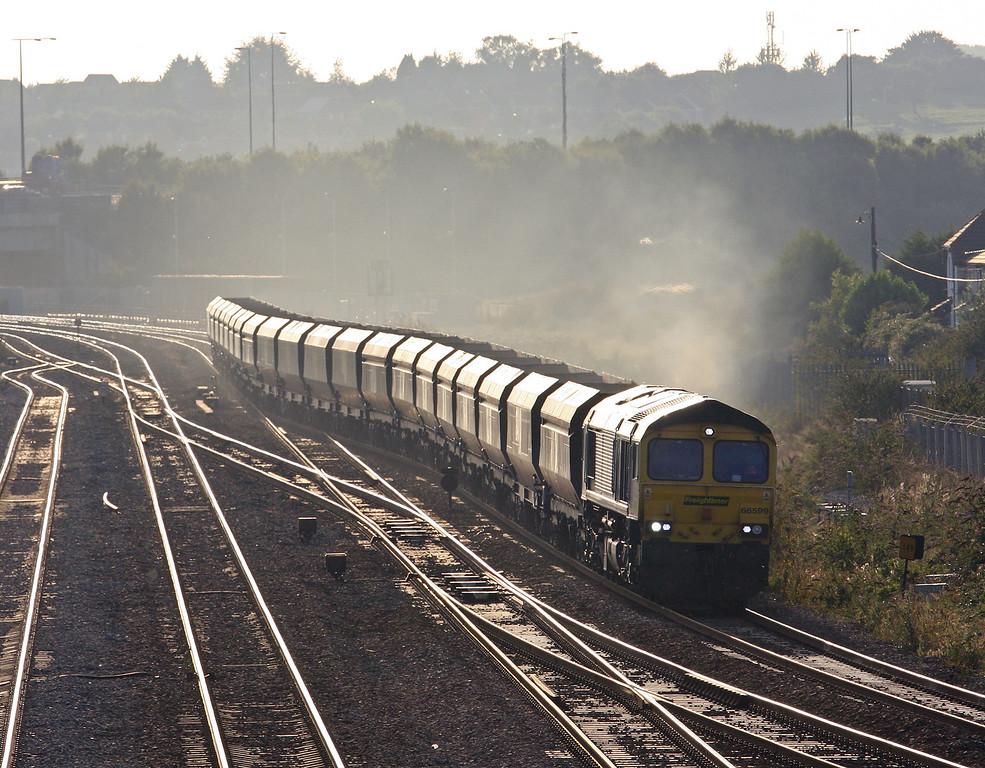66599, 15.43 Crewe Basford Hall-Bristol Stoke Gifford Yard, Severn Tunnel Junction, 4-9-13.