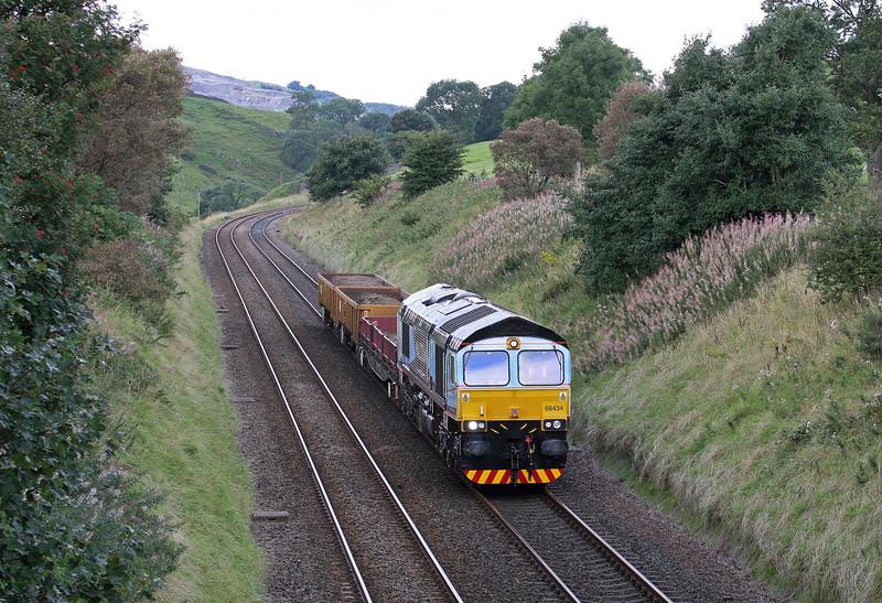 66434, 12.18 Carlisle Yard-Crewe Basford Hall Yard, Stainforth, near Settle, 10-9-13.