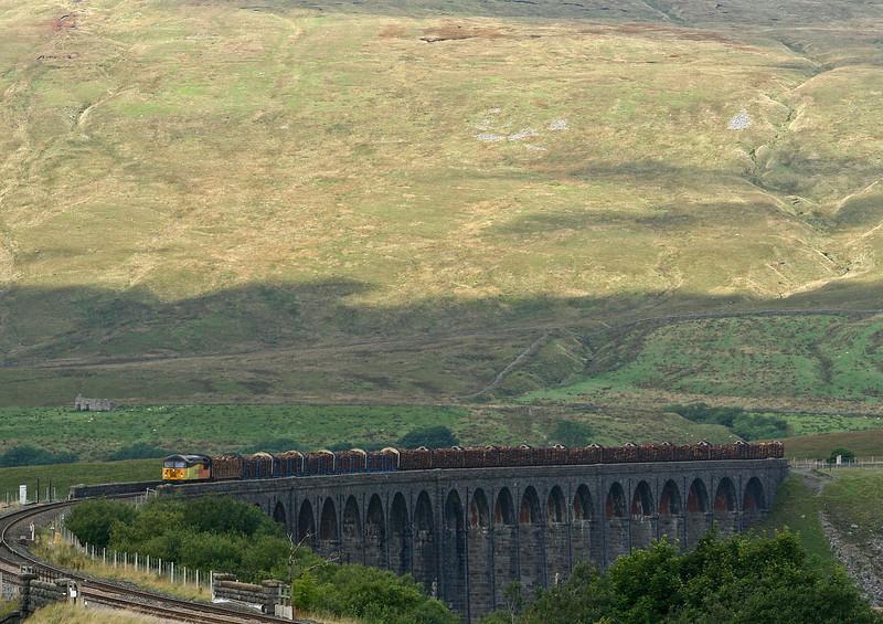 56302, 12.35 Ribblehead-Blea Moor-Chirk Kronospan, Ribblehead Viaduct, 12-9-13.