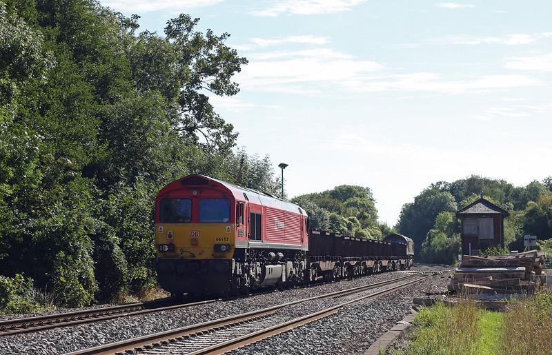 66056, 11.10 Corby-Margam, Awre, Gloucestershire, 4-9-13, 66152 tailing.