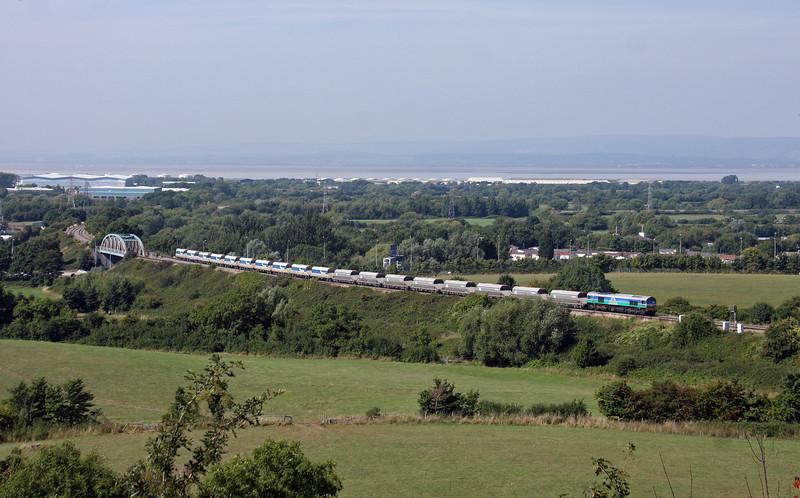 59001, 13.26 Avonmouth Bennett's Siding-West Drayton ARC, Hallen Marsh, Bristol, 4-9-13.