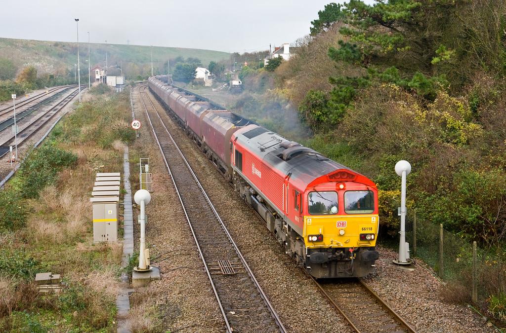 66118, 08.50 Margam-Cwmbargoed Opencast Colliery, Aberthaw, 18-11-14,