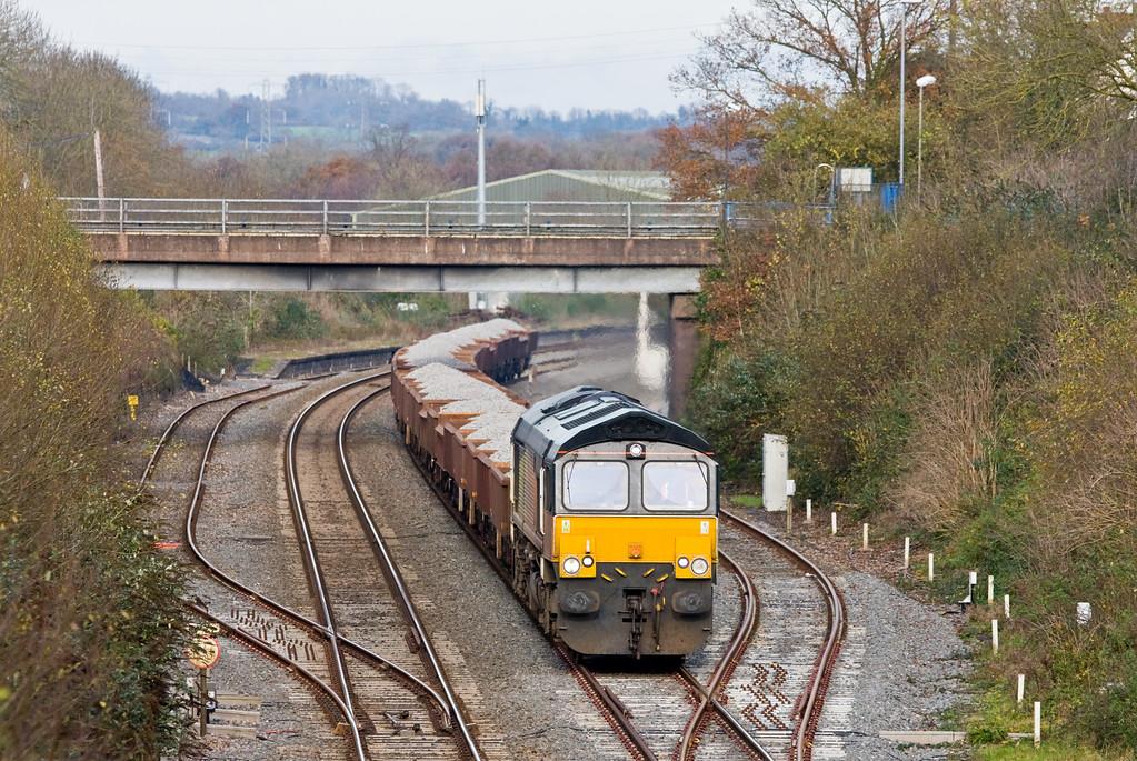 66847, 12.08 Westbury-Plymouth, Willand, near Tiverton, 30-11-14.