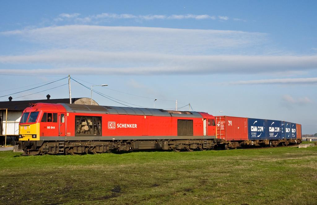 60044, 14.32 Barry Docks ABP Shipment-Newport Alexandra Dock Junction, at David Davies Road stopboard, Barry Docks, 18-11-14.