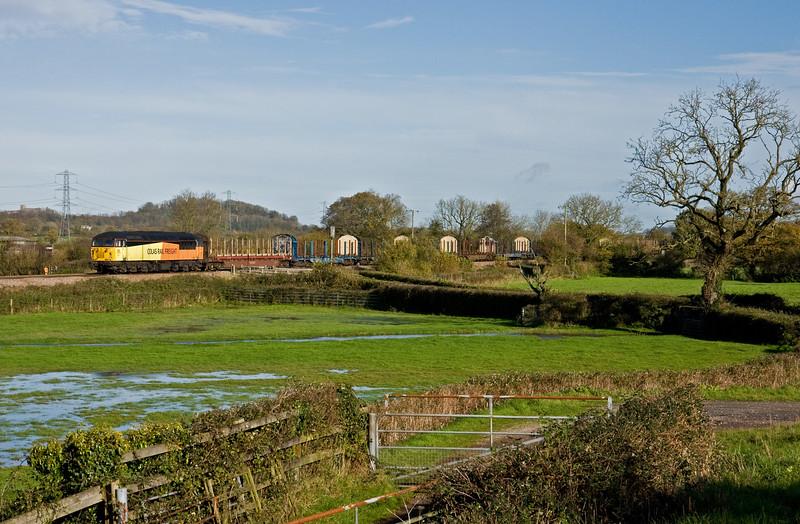 56113, 06.26 Chirk Kronospan-Exeter Riverside Yard, Pugham Crossing, near Burlescombe, 12-11-14.
