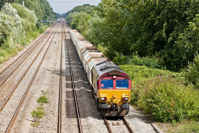 66201, 10.47 Hayes and Harlington Tarmac Sidings-Moreton-on-Lugg, Llanwern West Junction, 13-8-14.