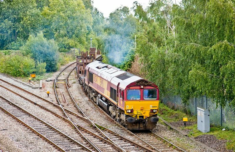 66054, 10.50 Llanwern Exchange Sidings-Margam, Llanwern West Junction, 13-8-14.