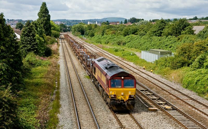 66006, 10.25 Margam-Llanwern Exchange Sidings, Llanwern West Junction, 13-8-14.