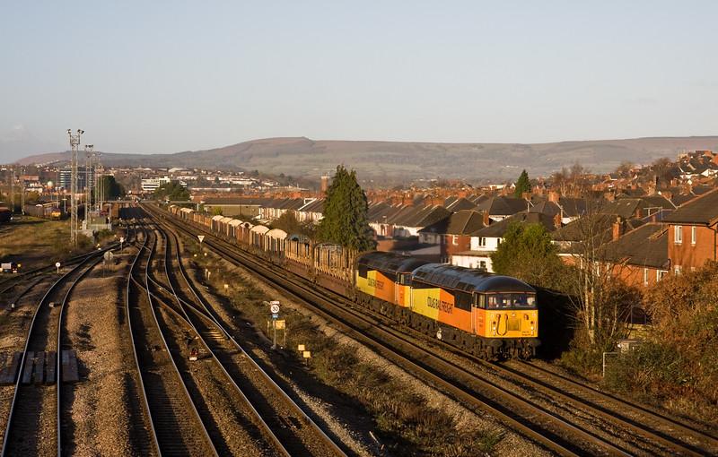 56078/56096, 06.21 Chirk Kronospan-Exeter Riverside Yard/, East Usk, Newport, 10-12-14.