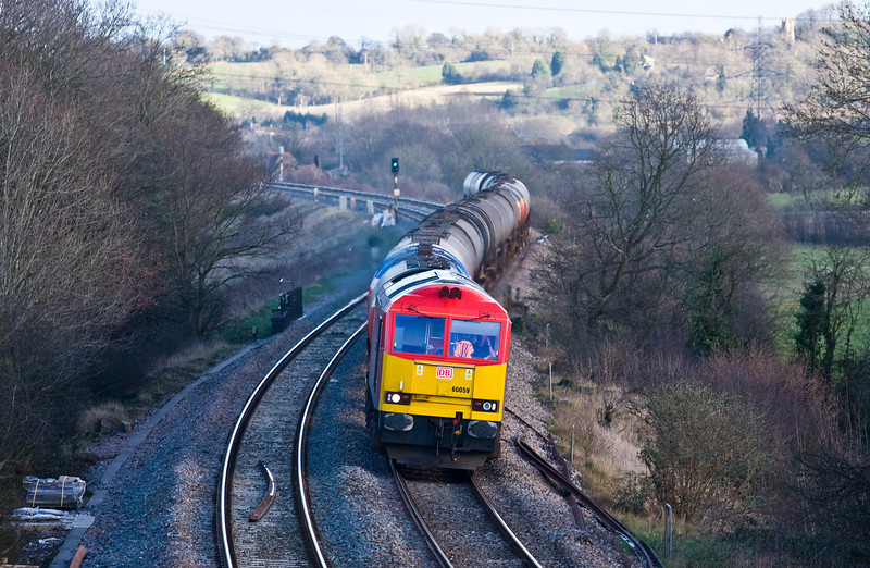 60059, 13.00 Theale Murco-Robeston Sidings, Coalpit Heath, near Bristol, 11-2-14.
