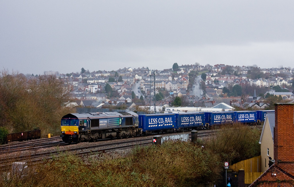 66305, 08.20 Daventry DRS-Cardiff Wentloog, Newport, 4-2-14.
