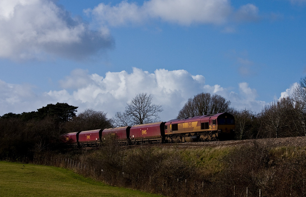 66138, 12.55 Portbury Coal Terminal, Pill-Ratcliffe Power Station, Pill, Ram Hill, near Westerleigh, 26-2-14.