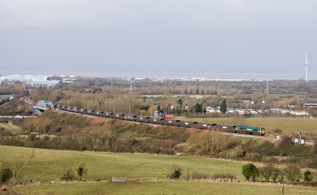 66601, 11.14 Avonmouth Bulk Handling Terminal-Rgeley Power Station, Hallen Marsh, Bristol, 26-2-14.