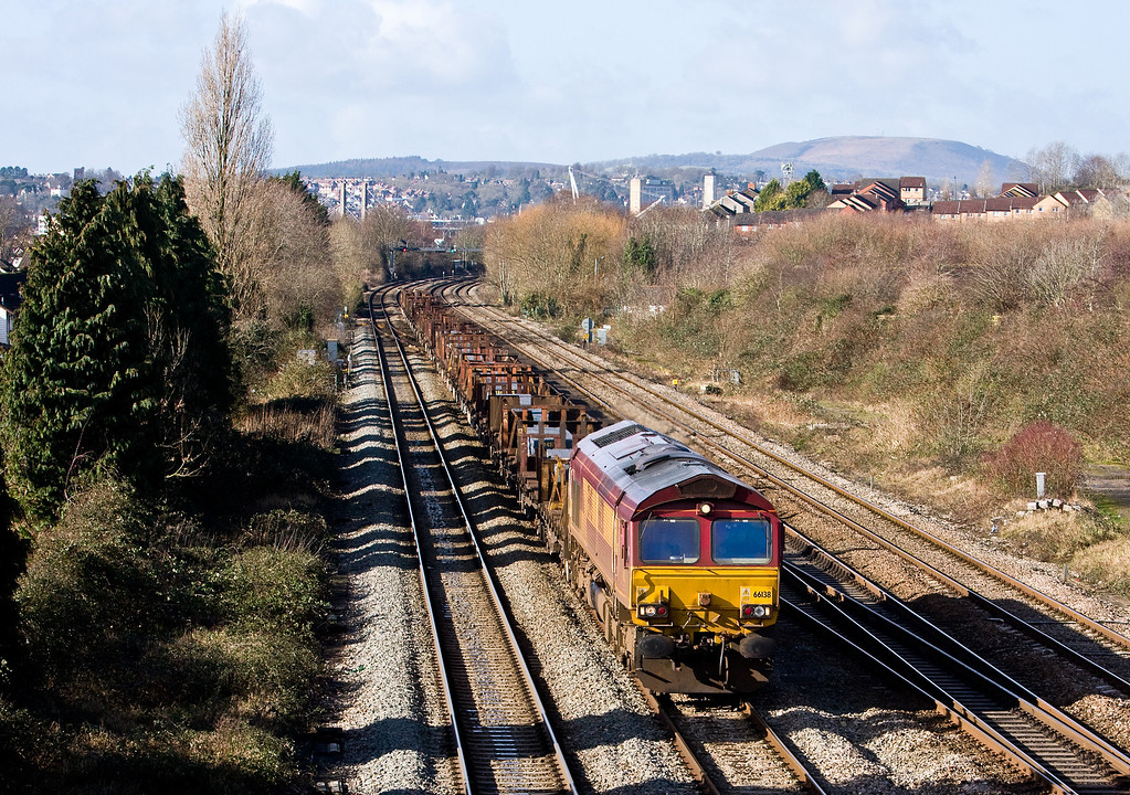 66138, 10.29 Margam-Llanwern Exchange Sidings, Llanwern West Junction, 11-2-14.