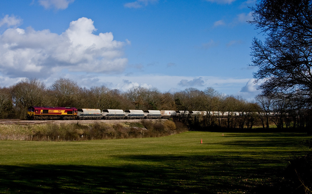 66080, 10.45 Hayes and Harlington Tarmac Sidings-Moreton-on-Lugg, Ram Hill, near Westerleigh, 26-2-14.