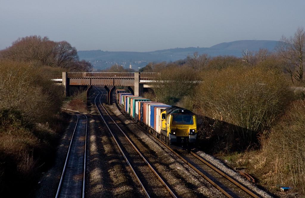 70019, 11.24 Cardiff Wentloog-Southampton MCT, Llandevenny, near Llanwern, 14-1-14.