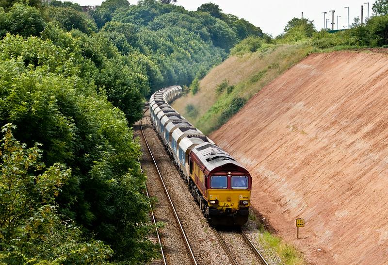 66128, 13.14 Avonmouth Bennett's Siding-West Drayton, Henbury, Bristol, 2-7-14.