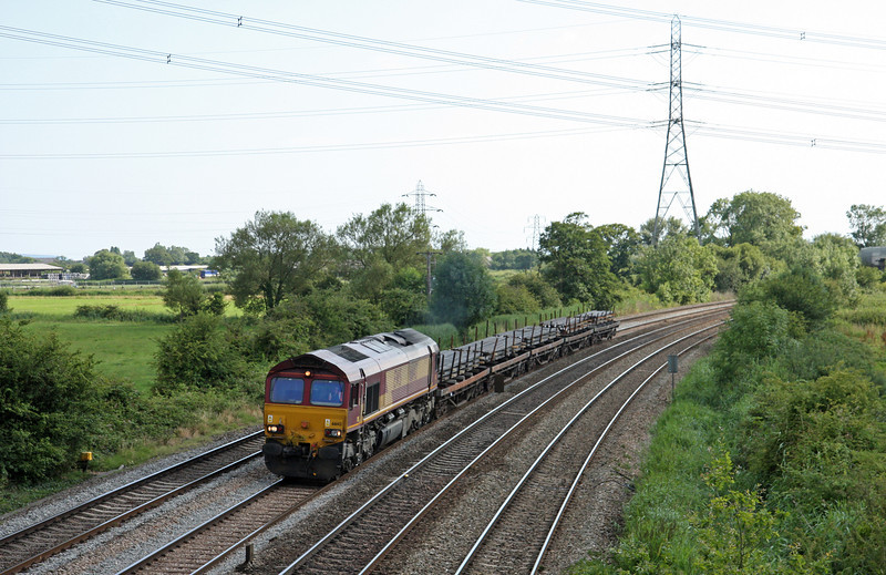 66143, 16.05 Cardiff Tidal-Llanwern Exchnage Sidings, terminated at Newport Alexandra Dock Junction, Duffryn, Newport, 22-7-14.