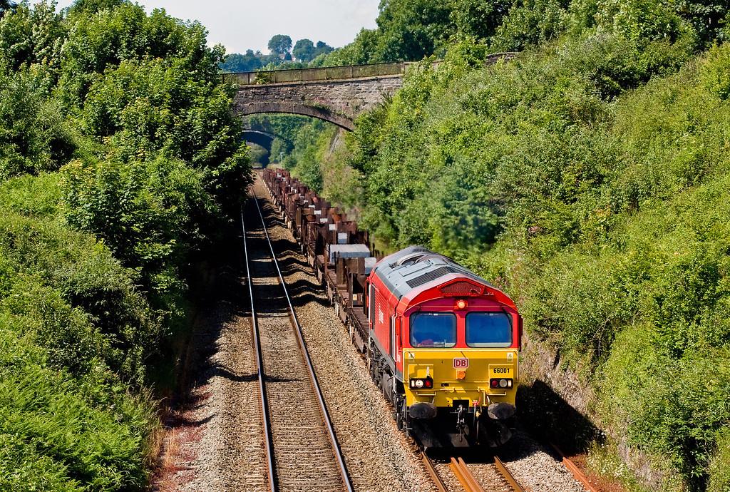 66001, 08.50 Margam-Scunthorpe BSC, Sedbury Lane, Chepstow, 19-6-14.