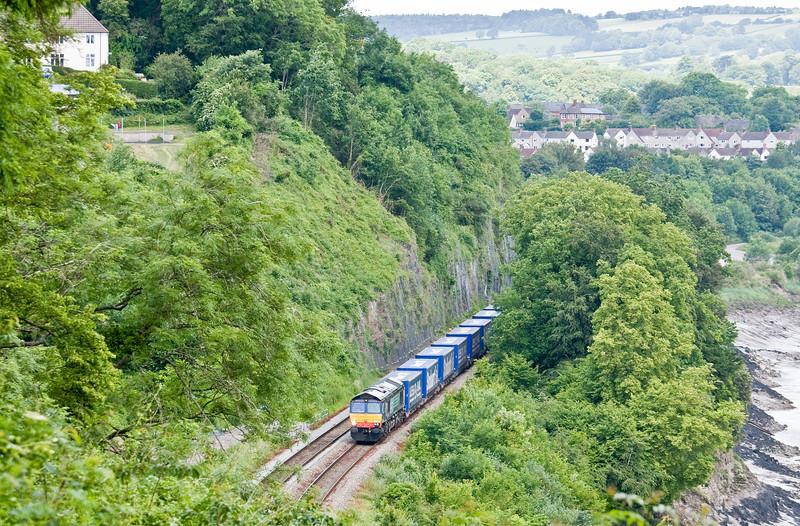 66304, 08.23 Daventry-Cardiff Wentloog, Bulwark, Chepstow, 10-6-14.