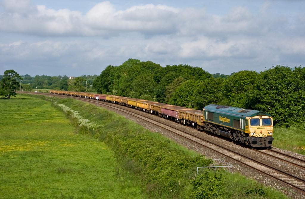 66619, 07.45 Tiverton Loops-Westbury, via Exeter Riverside Yard run-round, Silverton, near Exeter, 1-6-14.
